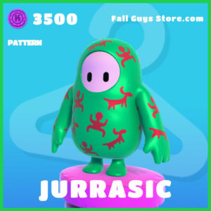 Jurrasic Pattern rare Fall Guys Item