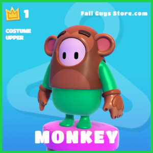 Monkey Costume Upper rare fall guys skin