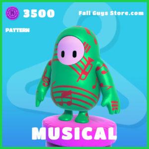 Musical Pattern rare fall guys item