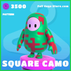Square Camo Pattern rare fall guys skin