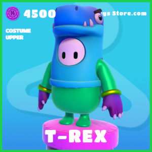 T-Rex Costume Upper Skin rare Fall guys item
