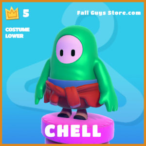 Chell Costume Lower legendary fall guys skin
