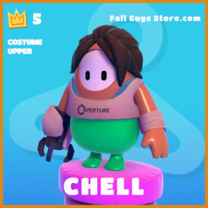 Chell Costume Upper legendary fall guys skin