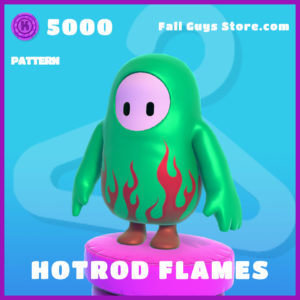 Hotrod Flames Pattern Epic fall guys skin item