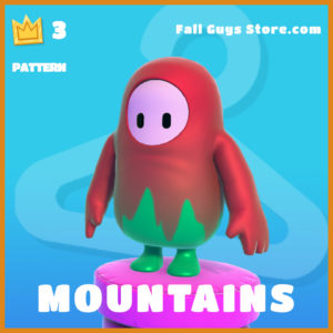 Mountains pattern legendary fall guys item