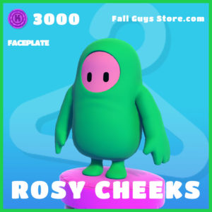 Rosy Cheeks Fall Guys faceplate rare item