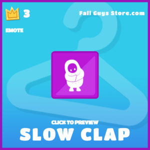 Slow Clap Emote Fall Guys epic item