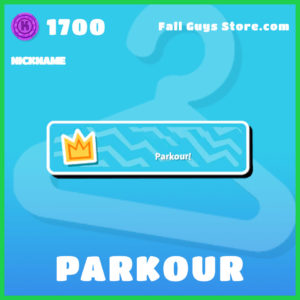Parkour Nickname fall guys item