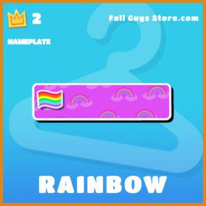 Rainbow Nameplate Fall Guy item