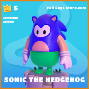 Sonic the Hedgehog Costume Upper fall guys skin