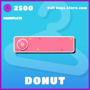 Donut Nameplate Fall Guys Item