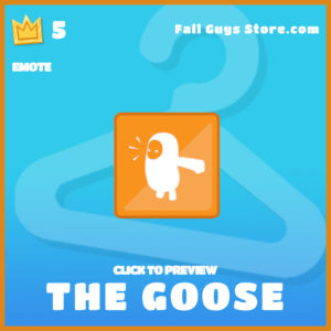 The Goose Emote Fall Guys Item