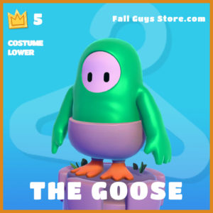 The Goose Fall Guys skin costume lower