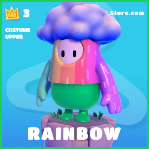 rainbow Skin Fall Guys Costume Upper