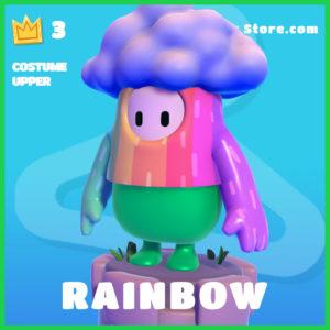 rainbow Skin Fall Guys Costume Upper