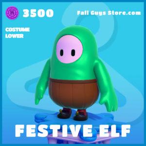 Festive Elf Cotume Lower Fall Guys Christmas Skin