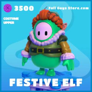 Festive Elf Cotume Upper Fall Guys Christmas Skin