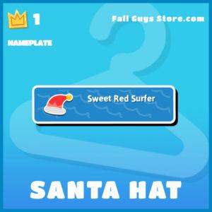Santa Hat Nameplate Fall Guys Christmas plate