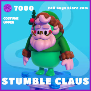 Stumble Claus Fall Guys Skin Costume Upper