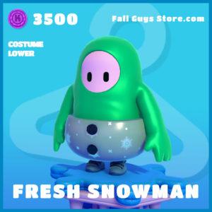 Fresh Snowman costume Lower fall guys uncommon skin