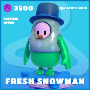 Fresh Snowman costume upper fall guys uncommon skin