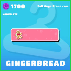 gingerbread Nameplate Fall Guys plate