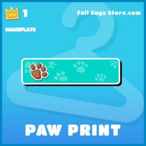 paw print Nameplate Fall Guys plate