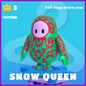 snow queen fall guys pattern item
