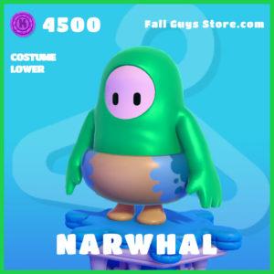 Narwhal Fall Guys Costume lower Skin