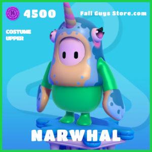 Narwhal Fall Guys Costume Upper Skin