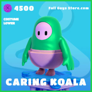 caring koala costume lower rare fall guys skin