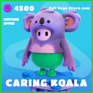 caring koala costume upper rare fall guys skin