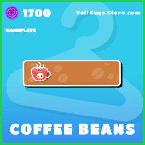 coffee beans nameplate rare fall guys item