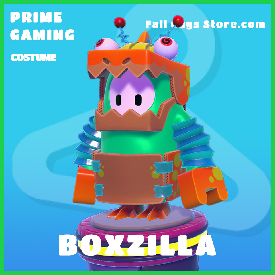 boxzilla rare fall guys prime gaming skin costume