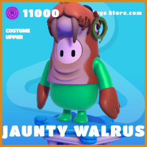 jaunty walrus costume upper legendary fall guys skin
