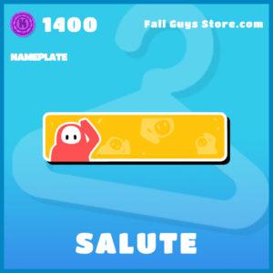 salute nameplate fall guys uncommon item