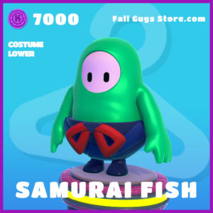 samurai fish costume lower epic fall guys skin