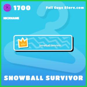 snowball survivor nickname rare fall guys item