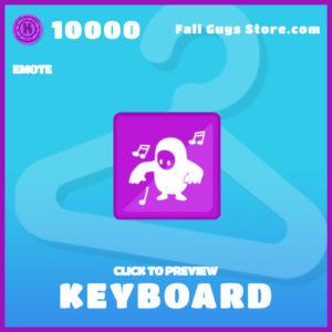 keyboard epic emote fall guys item