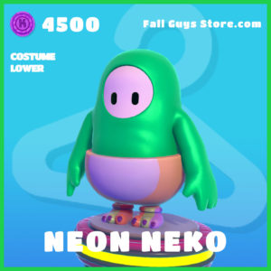 neon neko rare costume lower fall guys skin