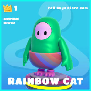rainbow cat costume lower common fall guys skin