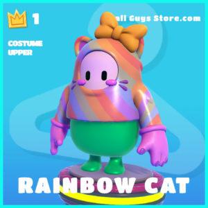 rainbow cat costume upper common fall guys skin