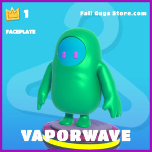 vaporwave epic faceplate fall guys item