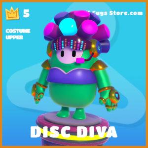 disc diva legendary costume upper fall guys skin