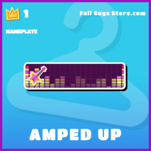 amped up epic nameplate fall guys item