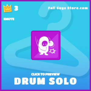 drum solo epic emote fall guys item