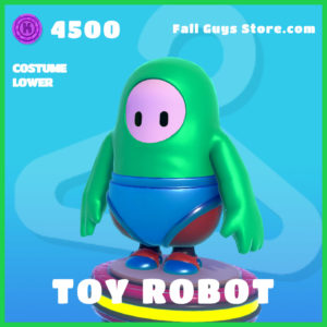toy robot rare costume lower fall guys skin