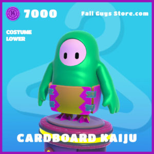 cardboard kaiju epic costume lower fall guys skin