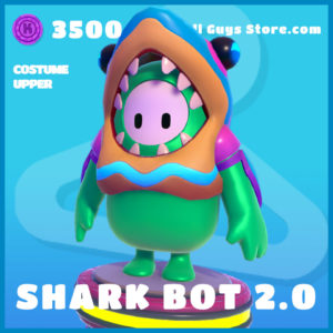 Shark Bot 2.0 uncommon costume upper fall guys skin