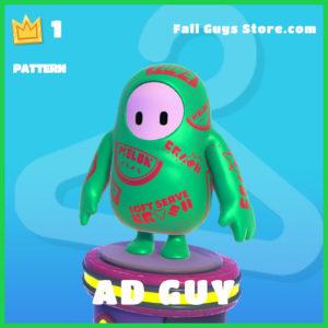 ad guy rare pattern fall guys item